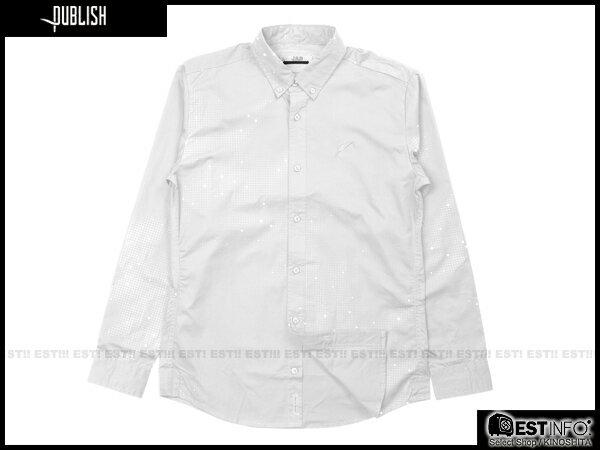 【EST】PUBLISH ERIS 3M反光 流星 點點 長袖 襯衫 [PL-5096-001] 白 S~L E0930 0
