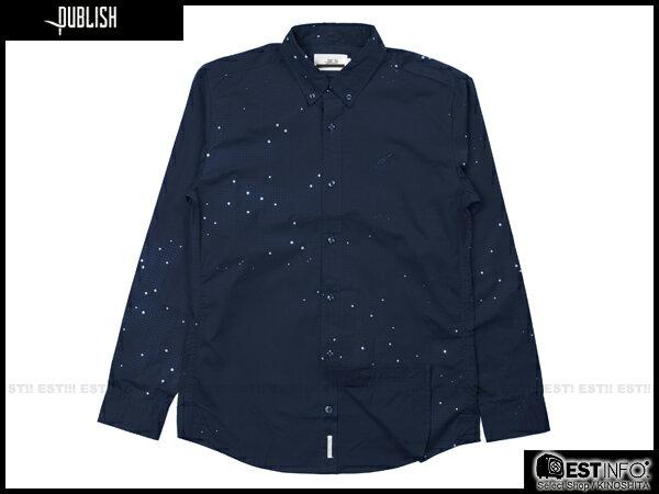 【EST】Publish Eris 3M反光 流星 點點 長袖 襯衫 藍 [PL-5096-086] E0930 0