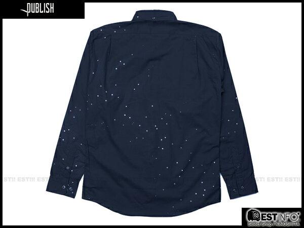 【EST】Publish Eris 3M反光 流星 點點 長袖 襯衫 藍 [PL-5096-086] E0930 1