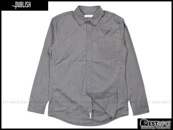 【EST】PUBLISH BYRON 口袋 長袖 襯衫 [PL-5097-165] 鐵灰 S~L E0930 0