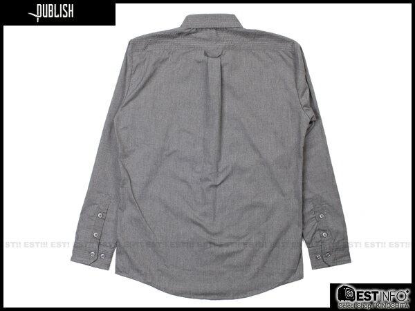 【EST】PUBLISH BYRON 口袋 長袖 襯衫 [PL-5097-165] 鐵灰 S~L E0930 1