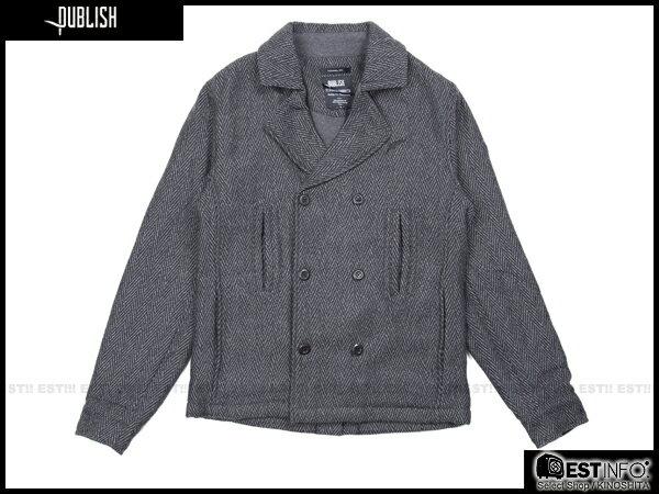 【EST】PUBLISH NELSON 厚磅 海軍風 雙排扣 外套 [PL-5105-165] 鐵灰 S~L E0930 0