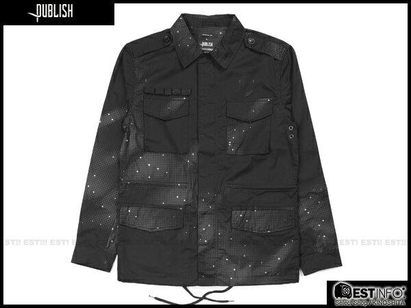 【EST】Publish Zane 3M反光 流星 長版 口袋 外套 [PL-5113-002] 黑 S~L E0930 0