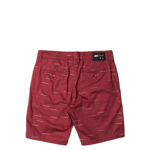 【EST】Publish Fable 條紋 工作褲 短褲 五分褲 [PL-5259-072] 紅w28~32 F0221 1