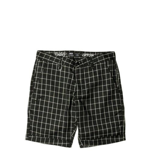 【EST】Publish Fable 格紋 工作褲 短褲 五分褲 黑 [PL-5261-002] F0221 0
