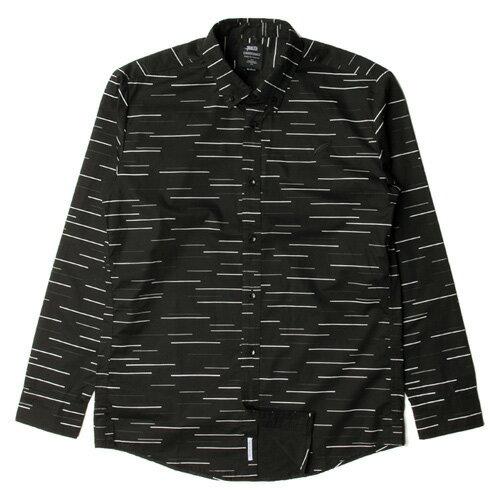 【EST】PUBLISH SABIN 不規則 條紋 長袖 襯衫 [PL-5262-002] 黑 F0221 0