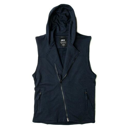 【EST】PUBLISH VON 內刷毛 連帽 背心 外套 [PL-5265-086] 藍 S~M F0221 0