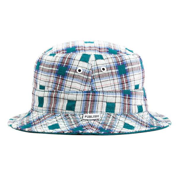【EST】Publish Nicolo 拼接 格紋 雙面 漁夫帽 藍 [PL-5294-085] F0417 1