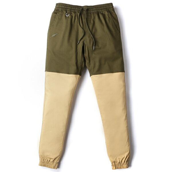 【EST】Publish Two-Tone Jogger Pants 束口褲 墨綠 卡其 [PL-5305-035] F0508 0