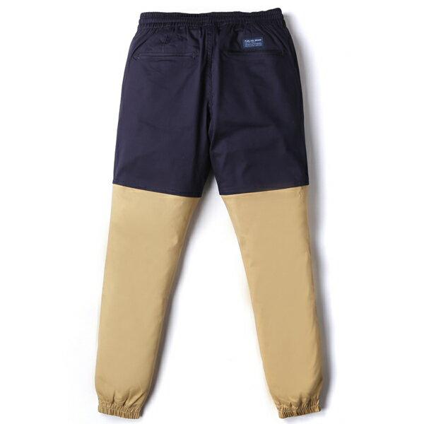 【EST】Publish Two-Tone Jogger Pants 束口褲 深藍 卡其 [PL-5307-086] F0508 1