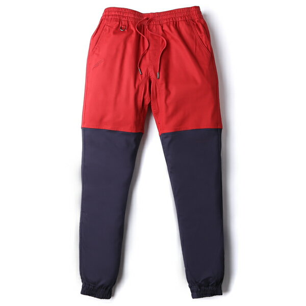 【EST】Publish Two-Tone Jogger Pants 束口褲 酒紅 深藍 [PL-5308-069] F0508 0