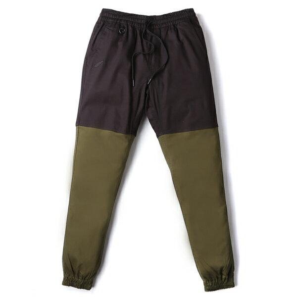 【EST】Publish Two-Tone Jogger Pants 束口褲 黑 墨綠 [PL-5313-002] F0508 0
