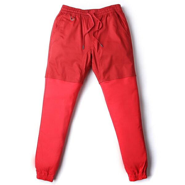 【EST】Publish Two-Tone Jogger Pants 束口褲 酒紅 紅 [PL-5314-069] F0508 0