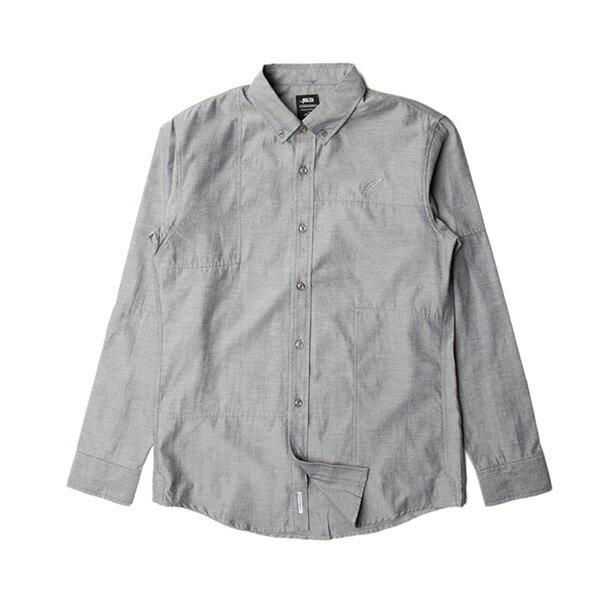 【EST】PUBLISH NEIL 素面 拼接 長袖 襯衫 黑 [PL-5317-007] S~L F0529 0