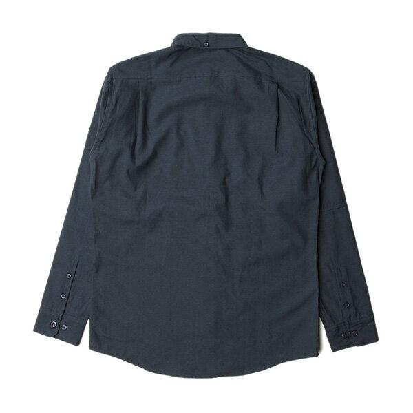 【EST】Publish Neil 素面 拼接 長袖 襯衫 藍 [PL-5317-086] F0529 1