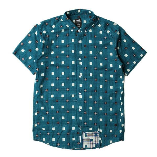 【EST】PUBLISH STINSON 拚色 格紋 短袖 襯衫 綠 [PL-5320-029] S~L F0529 0