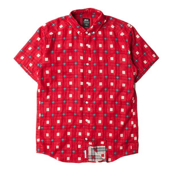 【EST】Publish Stinson 拚色 格紋 短袖 襯衫 紅 [PL-5320-069] F0529 0