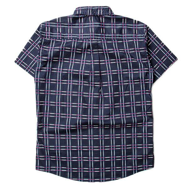 【EST】Publish Baclig 十字紋 格紋 短袖 襯衫 藍 [PL-5324-086] F0529 1