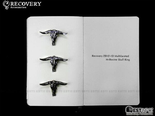 【EST】Recovery 2012-13 M-Bovine Skull Ring 牛頭角 戒指 黑銀/古銀/霧黑金 [RC-2043-002] D0306 0