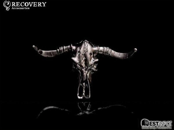 【EST】Recovery 2012-13 M-Bovine Skull Ring 牛頭角 戒指 黑銀/古銀/霧黑金 [RC-2043-002] D0306 1