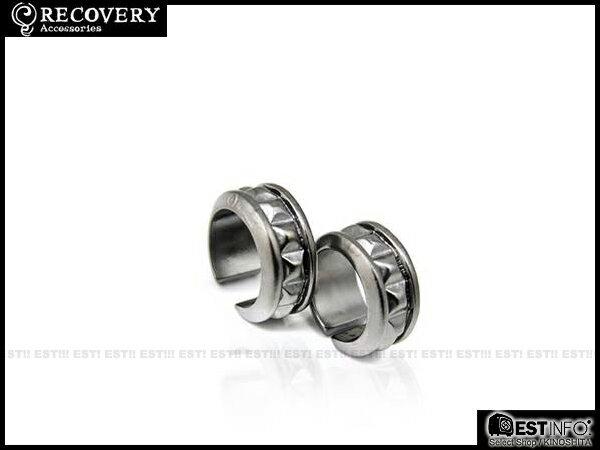 【EST】Recovery 2013 M-Rivets-Loop Ring 方型 鉚釘 戒指 古銀/黑銀/霧黑金 12 [RC-2056-200] D0611 0