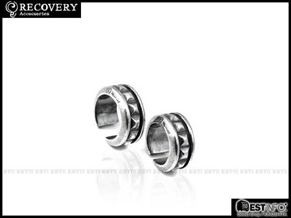 【EST】Recovery 2013 M-Rivets-Loop Ring 方型 鉚釘 戒指 古銀/黑銀/霧黑金 12 [RC-2056-200] D0611 2