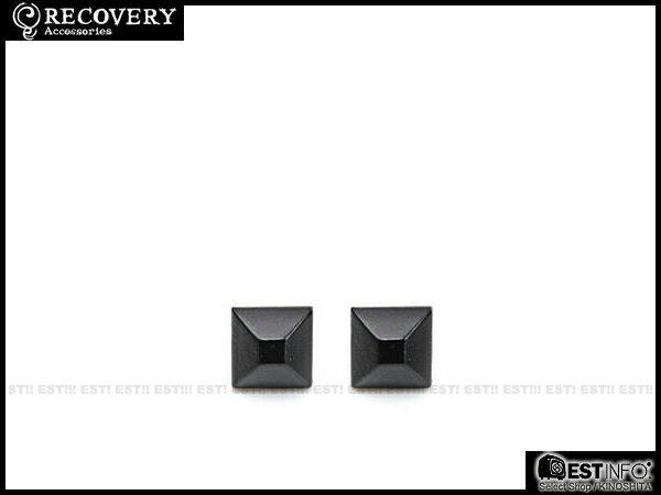 【EST】Recovery 2013-14 M-Rivets Earring 扁 鉚釘 耳環 銀黑/黑鎳/霧黑 [RC-4015-001] E0514 0