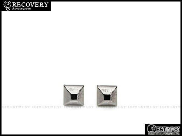 【EST】Recovery 2013-14 M-Rivets Earring 扁 鉚釘 耳環 銀黑/黑鎳/霧黑 [RC-4015-001] E0514 1