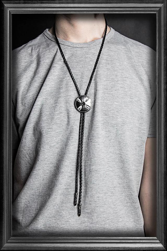 【EST】Recovery 2014 Cross Diamond Bolo Tie 十字鑽 保羅 領帶 項鍊 黑鎳紅/黑銀黑 [RC-4018-002] E0514 2