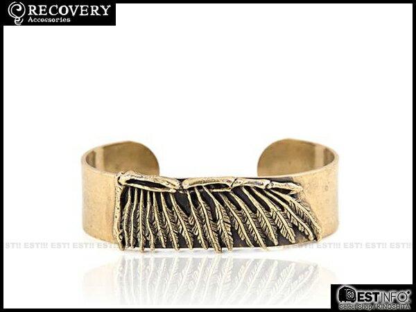 【EST】Recovery 2014 Wing Bone C-Type Bracelet 羽毛 骨 C型 手環 古銀/古銅 [RC-4019-002] E0514 1