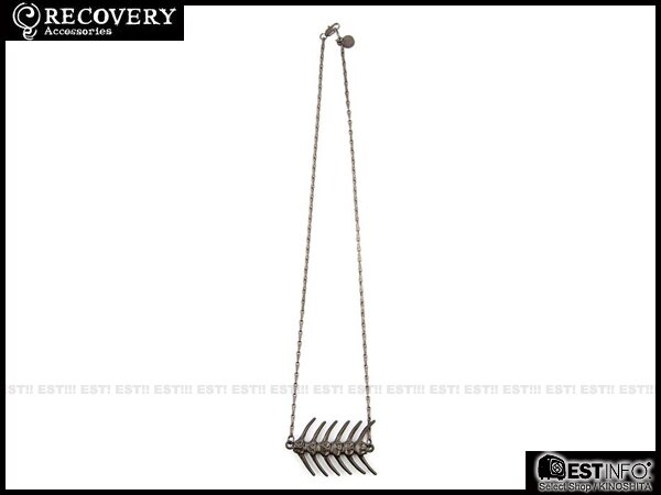 【EST】Recovery 2014 Fishbone Necklace 魚骨 項鍊 亮銀/黑銀 [RC-4020-001] E0514 0