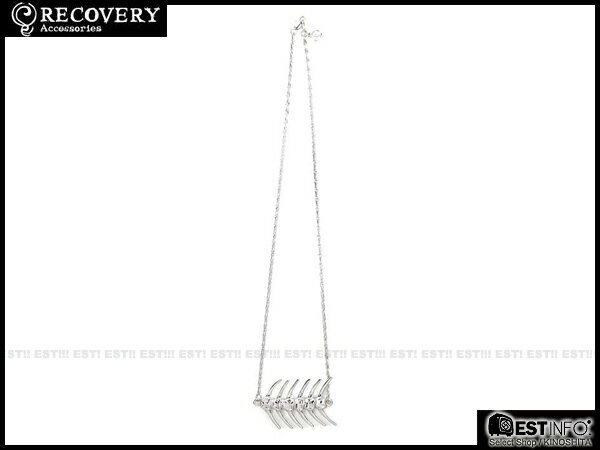 【EST】Recovery 2014 Fishbone Necklace 魚骨 項鍊 亮銀/黑銀 [RC-4020-001] E0514 1