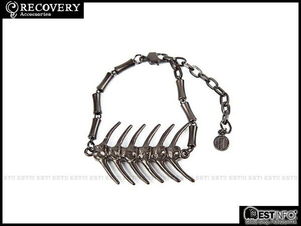 【EST】Recovery 2014 Fishbone Bracelet 魚骨 手鍊 亮銀/黑銀 [RC-4021-002] E0514 0