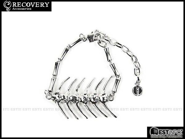 【EST】Recovery 2014 Fishbone Bracelet 魚骨 手鍊 亮銀/黑銀 [RC-4021-002] E0514 1