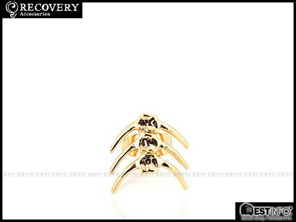 【EST】Recovery 2014 Fishbone Ring 魚骨 戒指 亮銀/亮金/黑銀 [RC-4022-002] E0514 2