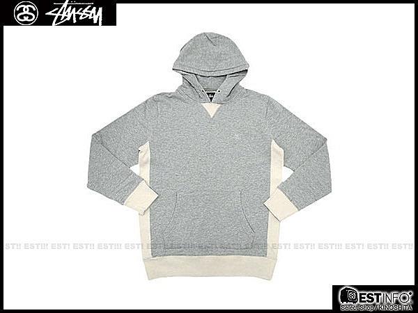 【EST】STUSSY 0180113 PULLOVER HOODIE 帽TEE [ST-4227] 灰/棕 E1025 0