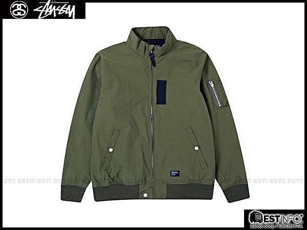 【EST】STUSSY 115164 MA-1 HOODIE 外套 [ST-4248] 黑/橄欖綠 S~L E1025 0