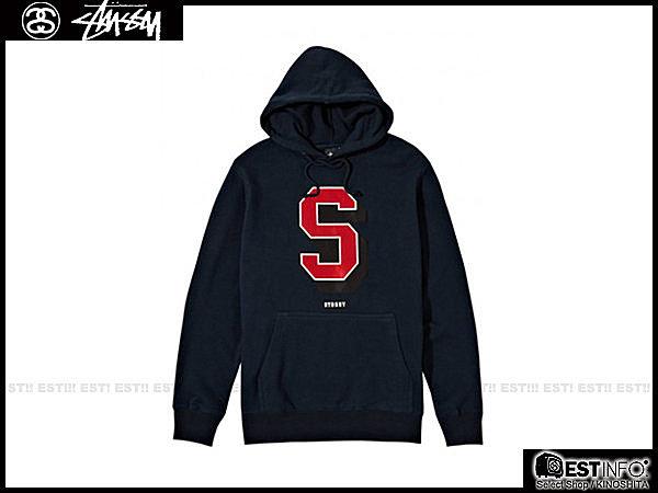 【EST】STUSSY 1923126 HOOD SUPER 帽TEE [ST-4368] 黑/灰/紅/藍 E1025 0