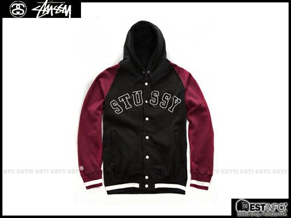 【EST】Stussy 2014 Fw 拼接袖 連帽 棒球 外套 灰/黑/深藍 [ST-5012-086] E1010 1