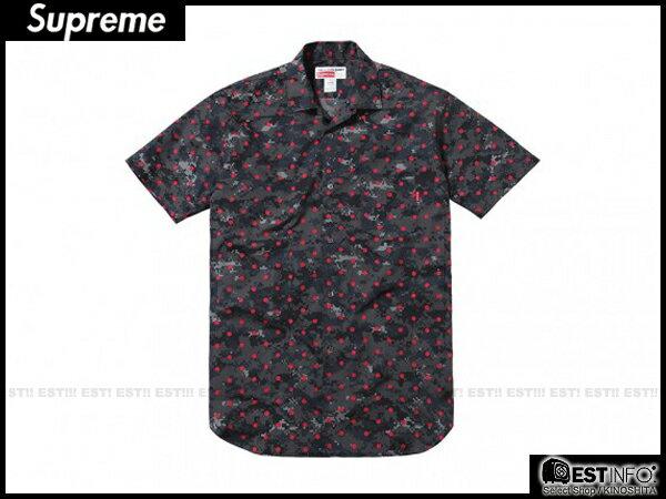【EST】Supreme x Comme Des Garcons 2013 Cdg 川久保玲 短袖 襯衫 余文樂 數位 紅點 [SU-2034-035] D0401 0