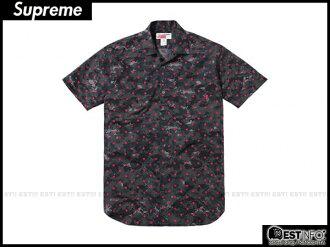 【EST】Supreme x Comme Des Garcons 2013 Cdg 川久保玲 短袖 襯衫 余文樂 數位 紅點 [SU-2034-035] D0401