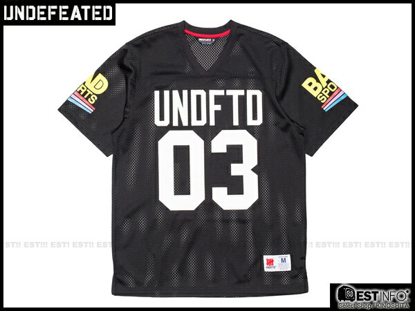 【EST】Undefeated Bad Jersey 球衣 短Tee 黑/藍 [UF-5101-085] E1008 0