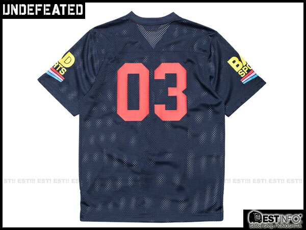 【EST】Undefeated Bad Jersey 球衣 短Tee 黑/藍 [UF-5101-085] E1008 2