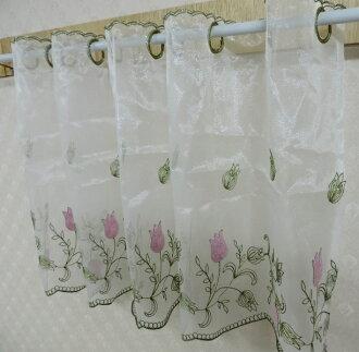 ◤彩虹森林◥《201571》台灣製造刺繡走道紗 刺繡窗紗 造型門簾 玄關簾 短簾 伸縮桿