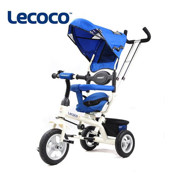 義大利Lecoco 推騎兩用多功能兒童三輪車-天空藍