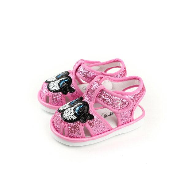 ArnoldPalmer涼鞋大眼睛魔鬼氈亮粉粉紅色小童童鞋883207-160no953