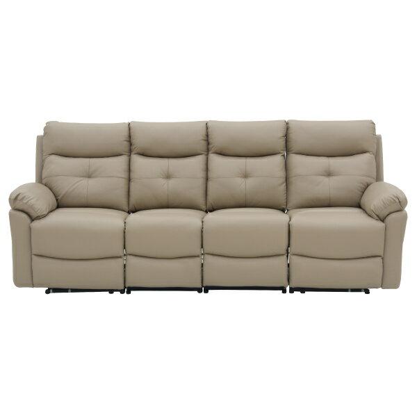 ◎(OUTLET)半皮4人用電動可躺式沙發 MEGA MO 福利品 NITORI宜得利家居 1