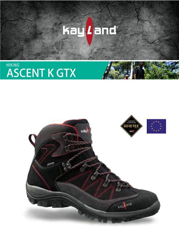 ├登山樂┤義大利 Kayland ASCENT K GTX 防水透氣 男登山鞋 黑/紅 #17060