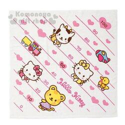 〔小禮堂嬰幼館〕Hello Kitty 嬰兒包巾《大.白.朋友.愛心.身高尺》四季皆適用