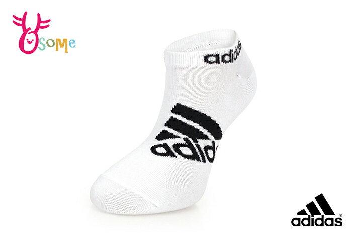 adidas 襪子 中大童 成人女款 經典LOGO 短襪 腳踝襪 吸汗透氣 運動襪 一雙入 A0419#白色◆OSOME奧森鞋業